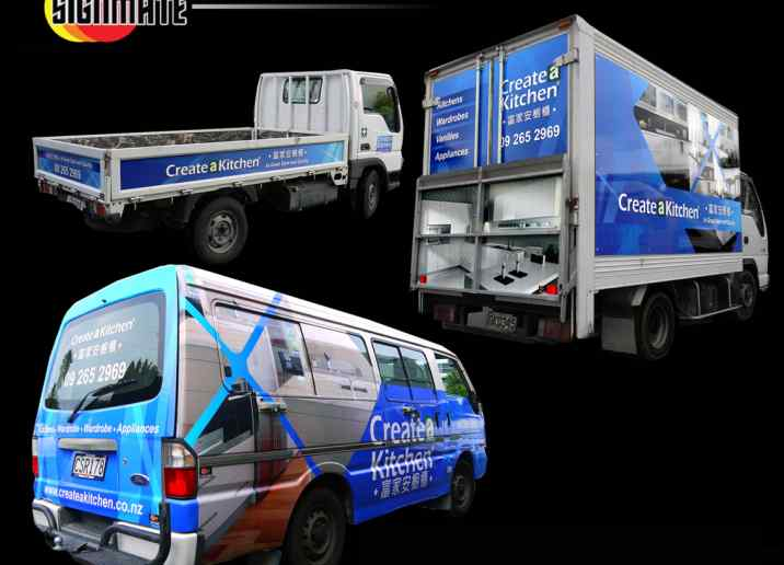 Ford ute, van, truck commercial graphic, 3M vinyl cutting, full car wrapping, high quality digital print and cut, air release laminating