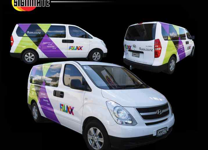 Hyundai van commercial graphic, 3M vinyl cutting, full car wrapping, high quality digital print and cut, air release laminating