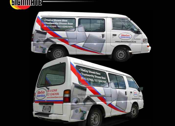 Nissan van commercial graphic, 3M vinyl cutting, full car wrapping, high quality digital print and cut, air release laminating