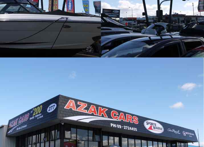 azak cars yard building signs designs digital print