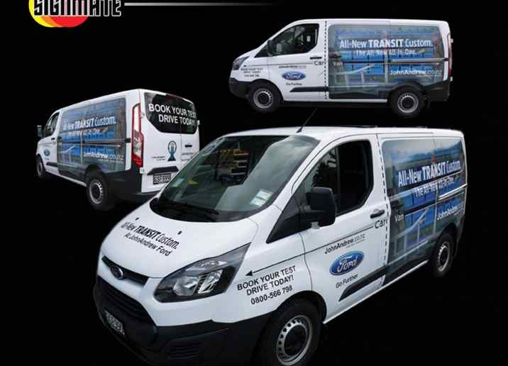 Ford ute car commercial graphic, 3M vinyl cutting, full car wrapping, high quality digital print and cut, air release laminating