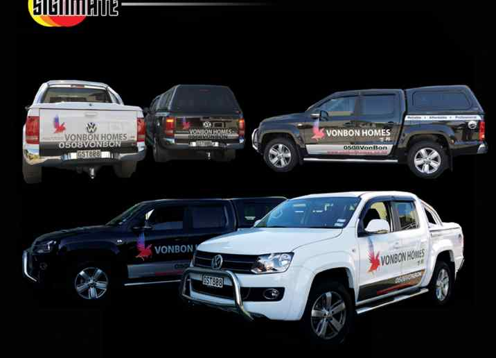 VW Ute commercial graphic, 3M vinyl cutting, wrapping, high quality digital print and cut, air release laminating