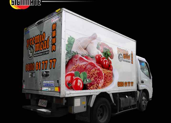 Toyota truck commercial graphic, 3M vinyl cutting, wrapping, high quality digital print and cut, air release laminating