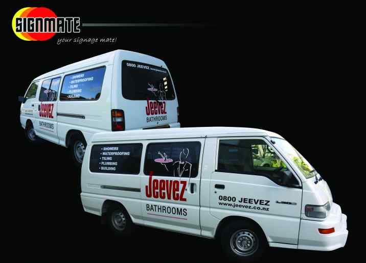 Mazda van commercial graphic, 3M vinyl cutting, full car wrapping, high quality digital print and cut, air release laminating